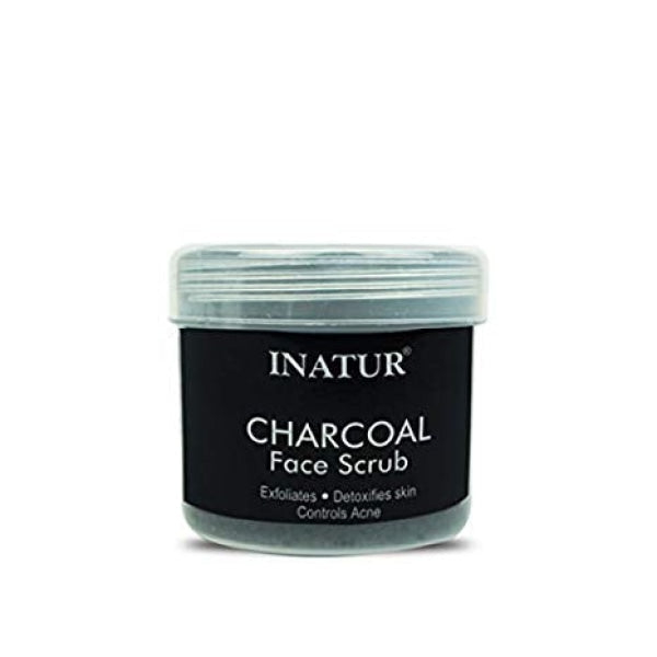Inatur Charcoal Face Scrub Detoxifying Suits Oily/Combination Skin