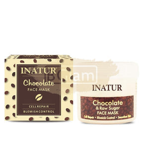 Inatur Chocolate & Raw Sugar Mask (Hydrate and Tone - Dry to Normal Skin)