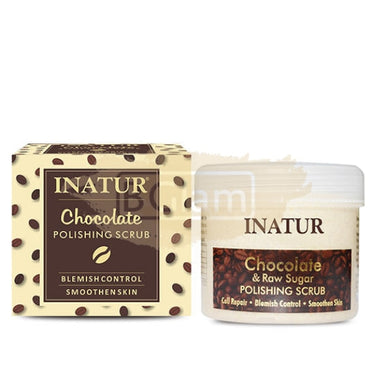Inatur Chocolate & Raw Sugar Polishing Scrub (Youthful Glow Dry/Normal Skin)