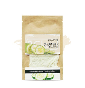 Inatur Sheet Mask Cucumber (Remove Excess Oil & Impurities)