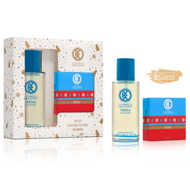 Creation Gift Set Women (100gr Soap + 75ml EDT) Nena