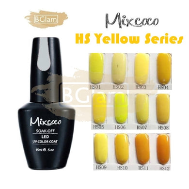Mixcoco Soak-Off UV Gel Nail Polish HS Yellow Collection