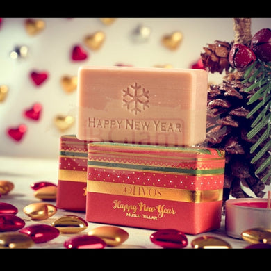 Olivos Happy New Year Soap (Red Stripes)