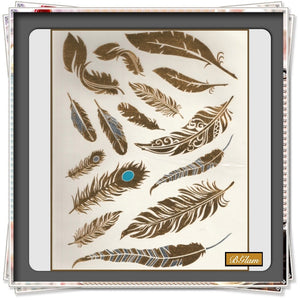 Tattoo Sticker - Feathers