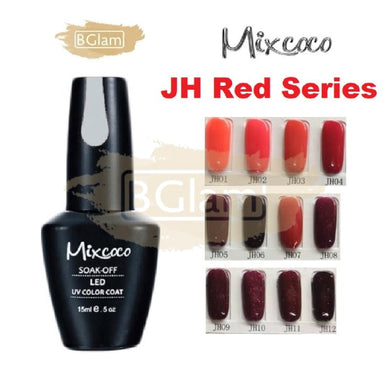 Mixcoco Soak-Off UV Gel Nail Polish JH Red Collection