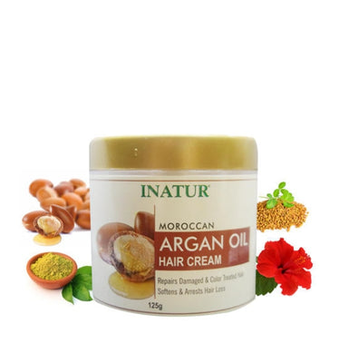 Moroccan ARGAN OIL Hair Cream Soften,reduces hairfall, repairs damaged color treated hair for all skin types