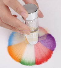 Colorful Nail Dust Brush with Rhinestone Handle
