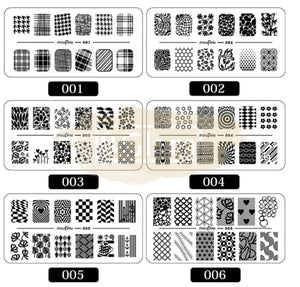 Nail Art Stamping Templates Available in 12 designs