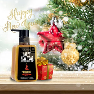 Olivos New Year Olive Oil Liquid Soap 450ml (Sulfate & Paraben Free)
