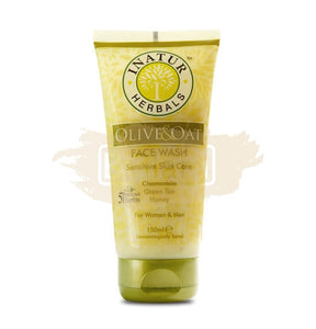 Inatur Face Wash Olive & Oat Face Wash (Mild Cleansing For Sensitive Skin)
