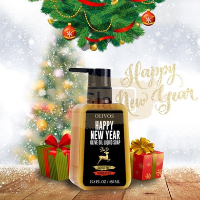 Olivos New Year Reindeer Liquid Soap 450ml (Sulfate & Paraben Free)
