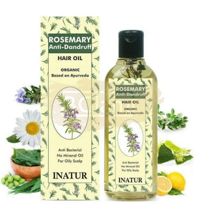 Inatur Rosemary Anti Dandruff Hair Oil - Anti Bacterial , No Mineral oil, For Oily Scalp