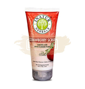 Inatur Scrub - Strawberry (Removes dead skin, blackheads & whiteheads)