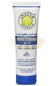 Inatur 3 in 1 - Whitening 3 in 1 (Face Wash, Scrub & Mask)