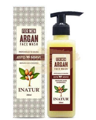 Inatur Argan Face Wash For Men 200 ml - Repairs and Hydrates