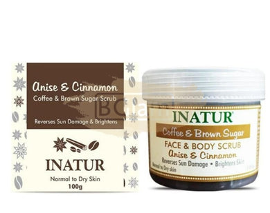 Inatur Coffee & Brown Sugar Face & Body Scrub Fights ageing ,Improves skin texture