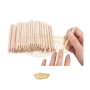 Double Sided Wooden Cuticle Stick Pusher (Orange Wood Stick) Multi Purpose 100 pieces