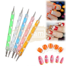 2 Sided Nail Art Dotting Tool Set (5 pieces)