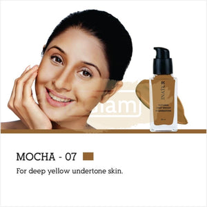 Inatur Foundation Mocha 07 (Deep yellow undertone skin)