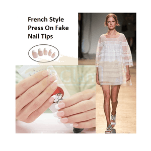 Nails - Press-On Nails - French style press on nail tips