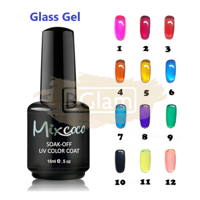 Mixcoco Soak-Off UV Gel Nail Polish Glass Gel Collection