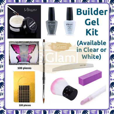 Builder Gel Kit - Available in Clear or White
