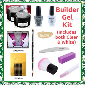Builder Gel Kit Duo - Includes Clear & White Builder Gel