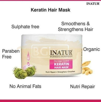 Inatur Keratin Hair Mask - Nutri Repair , Strengthens & Smoothens