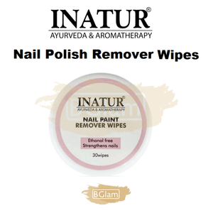 Inatur Nail Polish Remover Wipes (30 wipes)