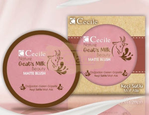 Cecile Nature Goat's Milk Beauty Matte Blush (Paraben Free)