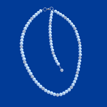 Load image into Gallery viewer, handmade pearl and crystal necklace with or without a 5 inch backdrop