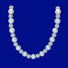 Load image into Gallery viewer, handmade pearl and crystal necklace