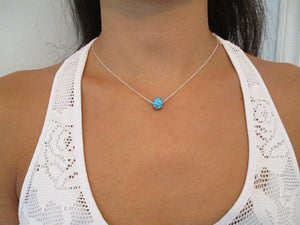 Pave Crystal Floating Necklace
