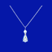 Load image into Gallery viewer, handmade tulip pearl drop necklace