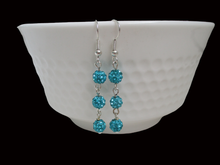 Load image into Gallery viewer, handmade pair of crystal drop earrings