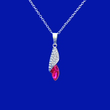Load image into Gallery viewer, crystal teardrop necklace