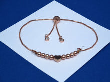 Load image into Gallery viewer, Monogram 18K Hematite Rose Gold Bar Bracelet