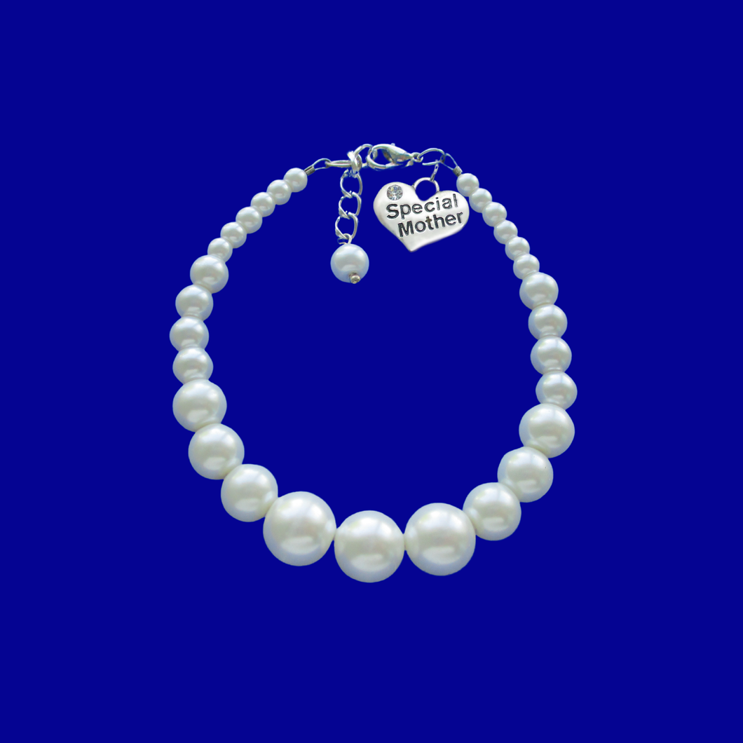 special mother handmade pearl charm bracelet