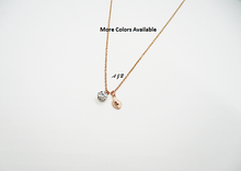 Load image into Gallery viewer, Monogram Rose Gold Leaf Pave Necklace