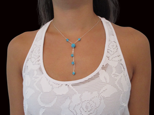 handmade crystal drop necklace