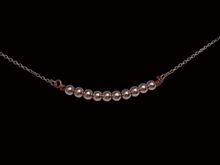 Load image into Gallery viewer, handmade natural rose gold hematite bar necklace