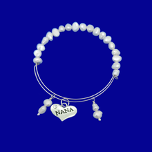 Load image into Gallery viewer, Nana Fresh Water Pearl Expandable Charm Bracelet, ivory