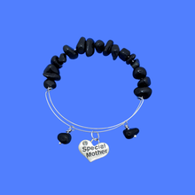 Load image into Gallery viewer, special mother black onyx expandable charm bracelet