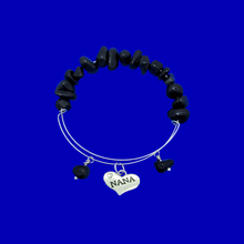 Load image into Gallery viewer, Nana Black Onyx Expandable Charm Bracelet