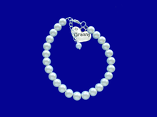Load image into Gallery viewer, granny pearl charm bracelet, white or custom color