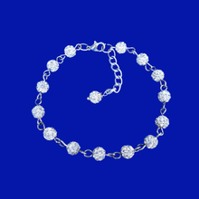 Load image into Gallery viewer, Crystal Bracelet - Bracelets - a handmade crystal bracelet, silver clear or custom color