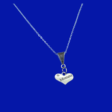 Load image into Gallery viewer, mommy drop necklace, silver