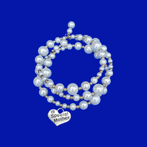 Special Mother Multi-Layer Expandable Wrap Pearl Charm Bracelet