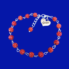 Load image into Gallery viewer, handmade gran pave crystal charm bracelet, light siam or custom color