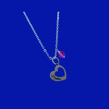 Load image into Gallery viewer, Mother Swarovski Crystal Drop Charm Necklace
